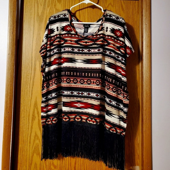 Shirt with fringe